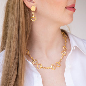 Gold Horse Bit Necklace