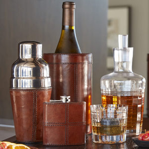 Leather Bar Flask