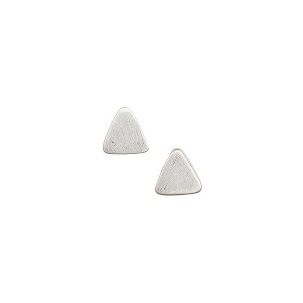 Petite Solid Triangle Stud Earrings