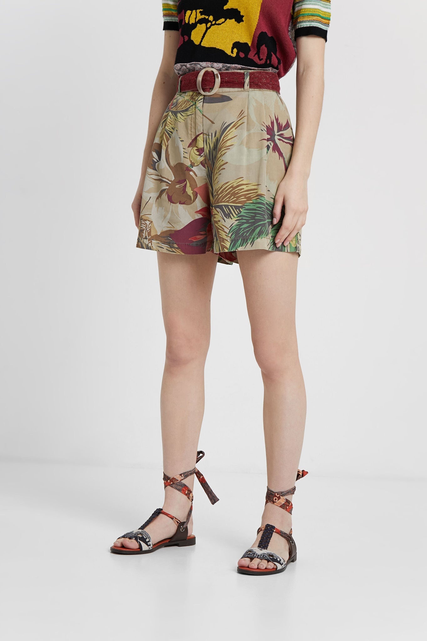 Floral Tencel™ Short Trousers