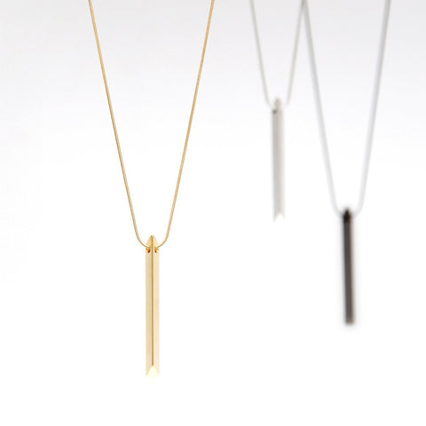 Trapezoid Bar Necklace
