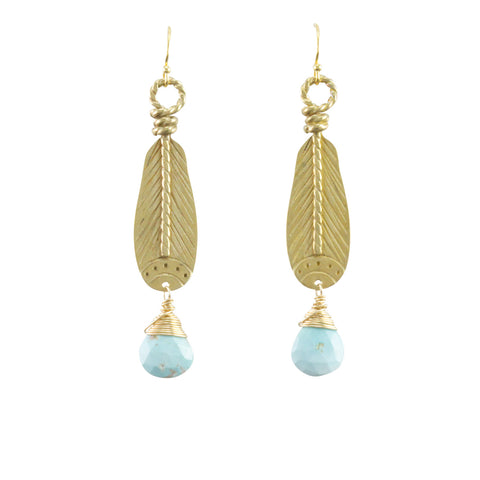 Asta Earrings-Bronze