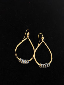 Small Teardrop Rolo Earrings