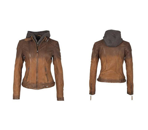 Casha RF Vintage Leather Jacket