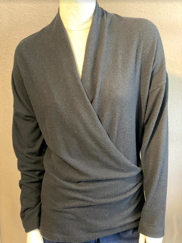 Brushed wrap front top