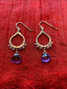 Gemstone Beaded Teardrop Briolette Earring