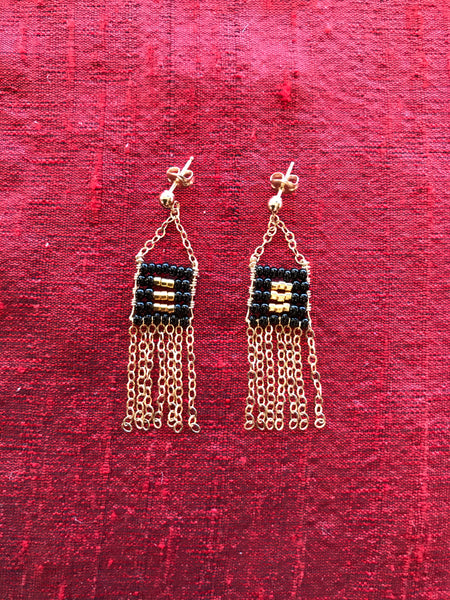 XS Pendant Earring with Chain Tassel