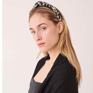 Turban Knot Headband in Leopard