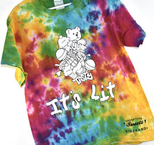 Load image into Gallery viewer, Kidzkandi X Saugatuck Sweets It's Lit Tie Dye Shirt
