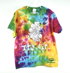 Kidzkandi X Saugatuck Sweets It's Lit Tie Dye Shirt