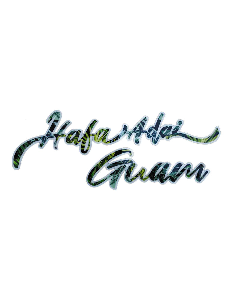 Tropical HA Guam Sticker