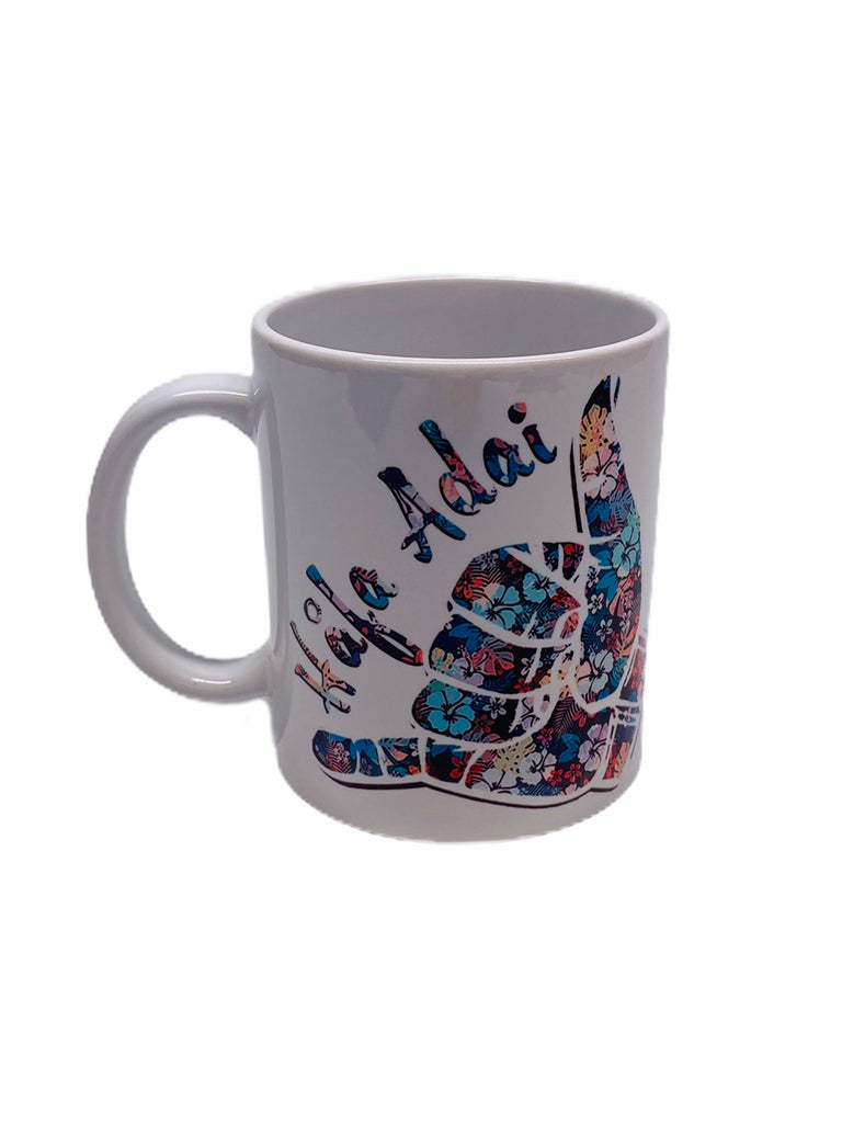Floral HA HL Square Guam Mugs