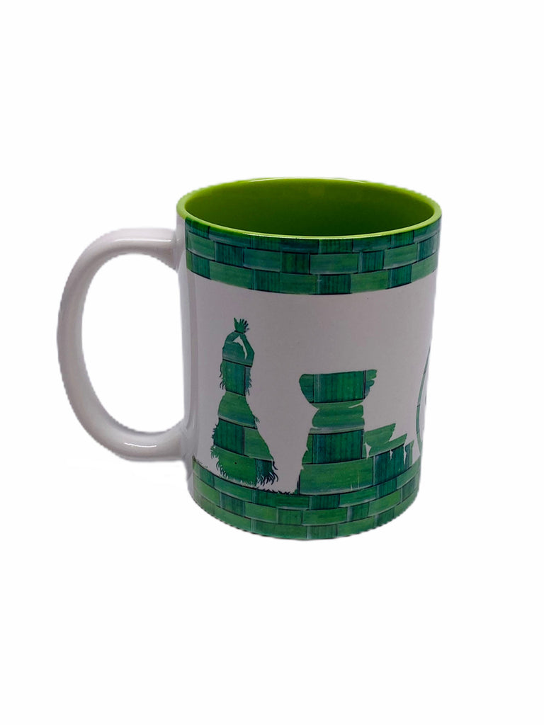 Green Woven Latte Stone Seal Guam Mugs