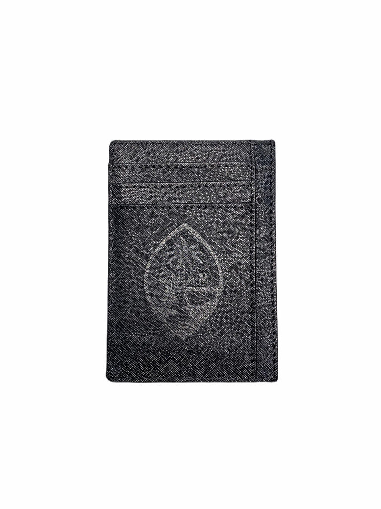 Leather ID Card Holder Black