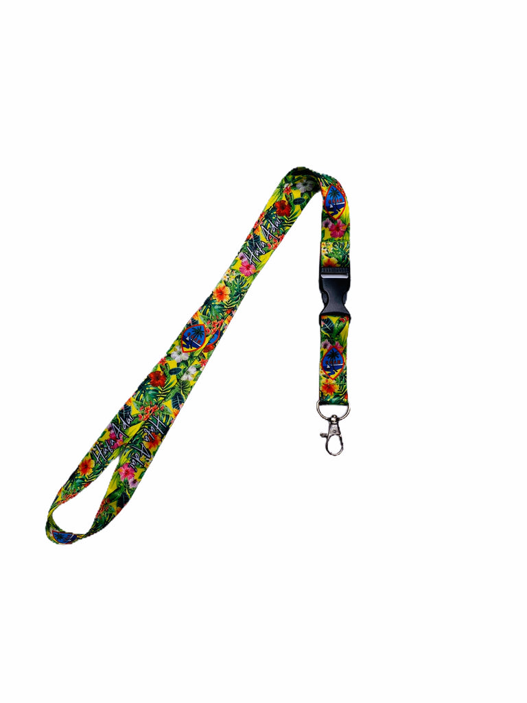 Floral Tropical Lanyard