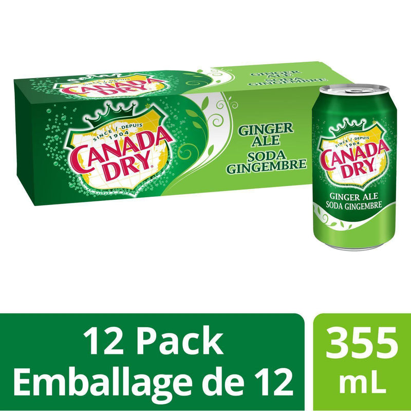 Canada Dry® Ginger Ale 355 mL Cans, 12 Pack