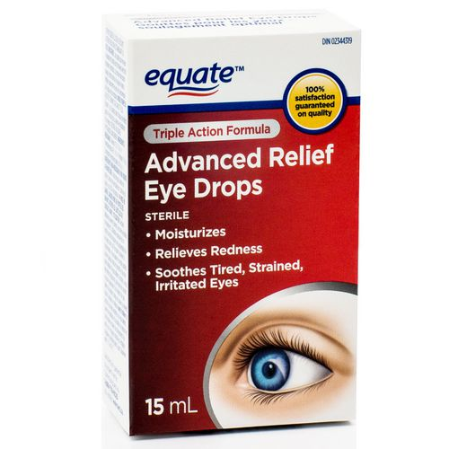 Equate Advanced Relief Eye Drops, Triple Action