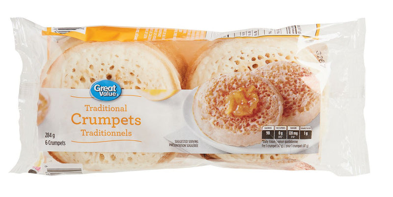 Crumpets Traditionnels de Great Value