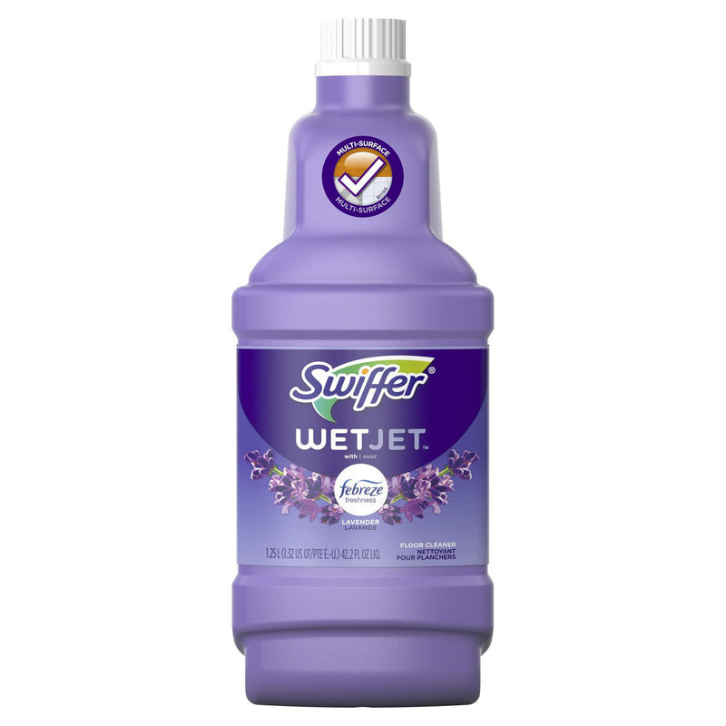 Swiffer WetJet Multi-purpose Floor Cleaner Solution Refill with Febreze Lavender Vanilla & Comfort Scent