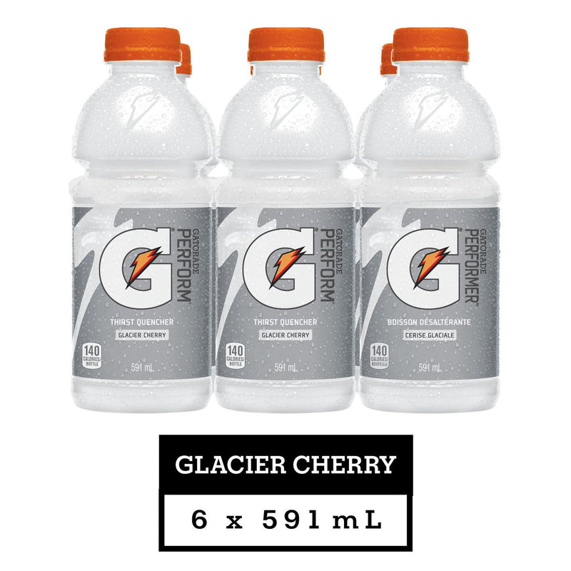 Gatorade Frost Glacier Cherry Sports Drink, 591 mL Bottles, 6 Pack