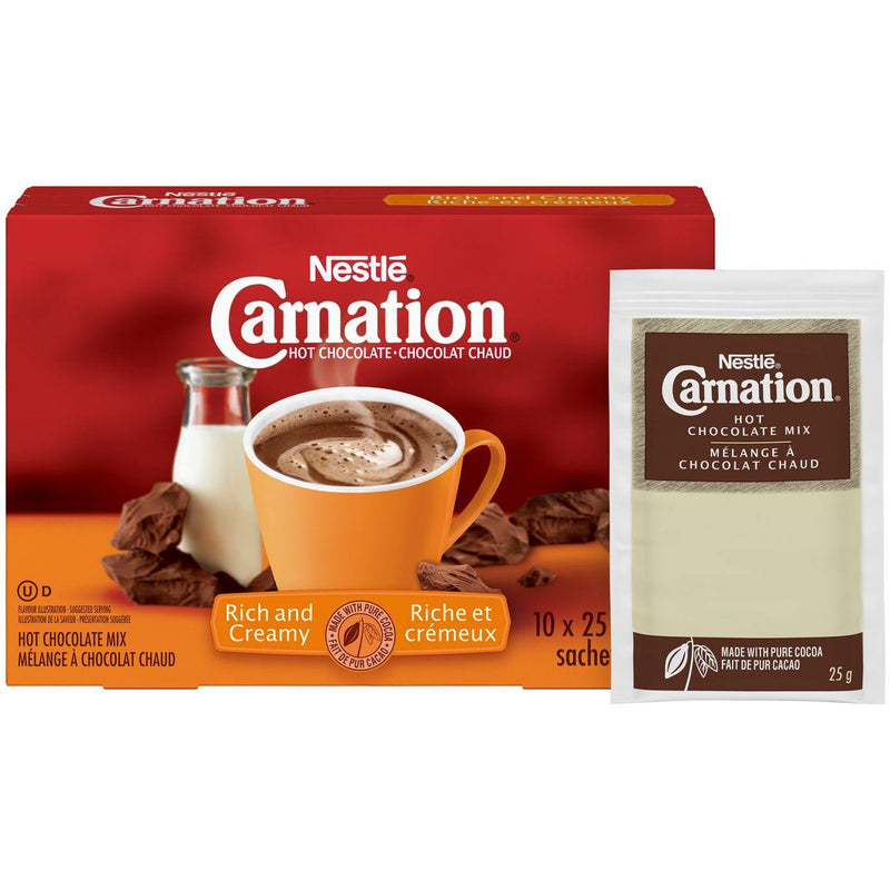 CARNATION Hot Chocolate Rich Carton, 10 count