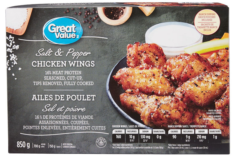 Great Value Salt & Pepper Chicken Wings