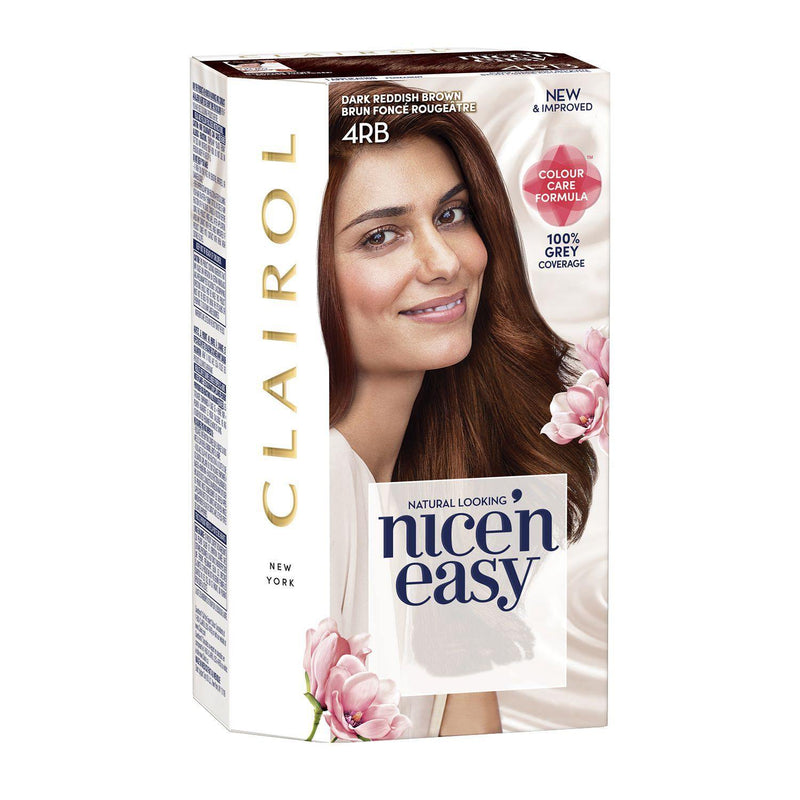 Clairol - Nice'n Easy Permanent Hair Color Dark Reddish Brown - 4RB
