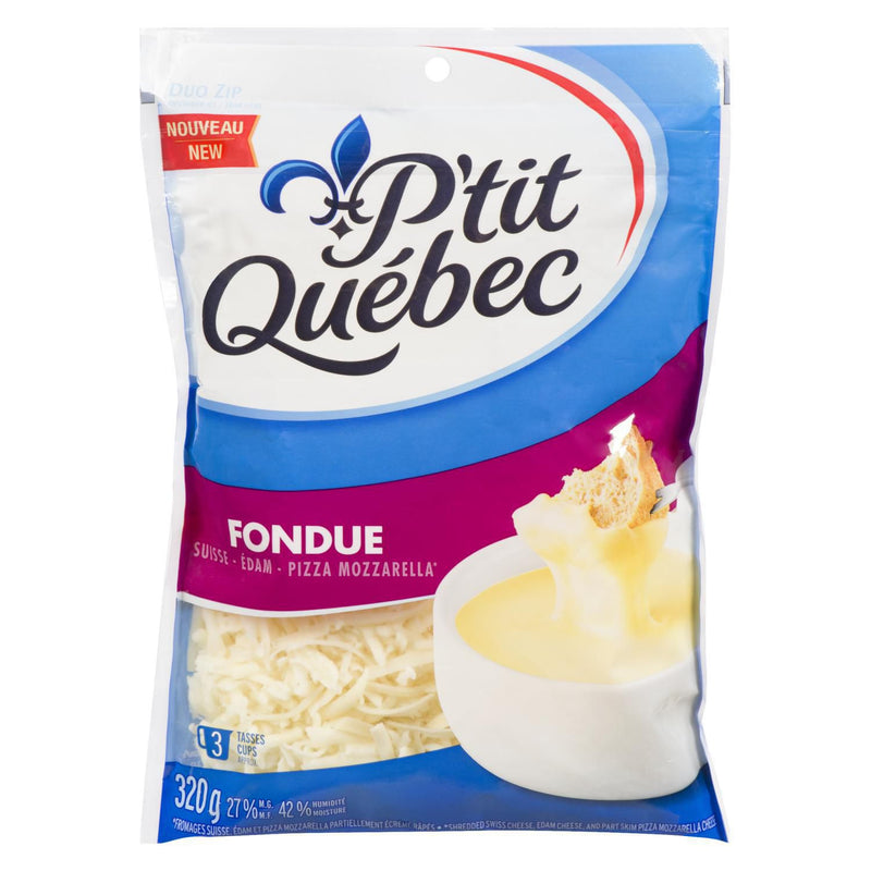 P'Tit Quebec Fondue Natural Shredded Cheese