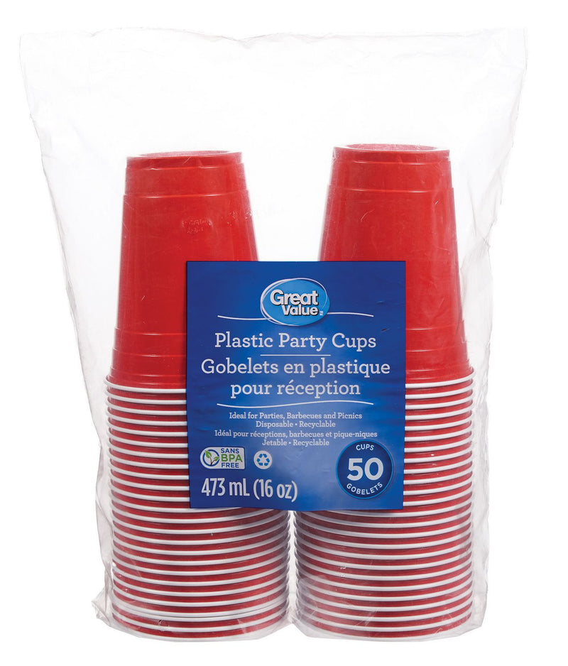 Great Value Plastic Party Cups