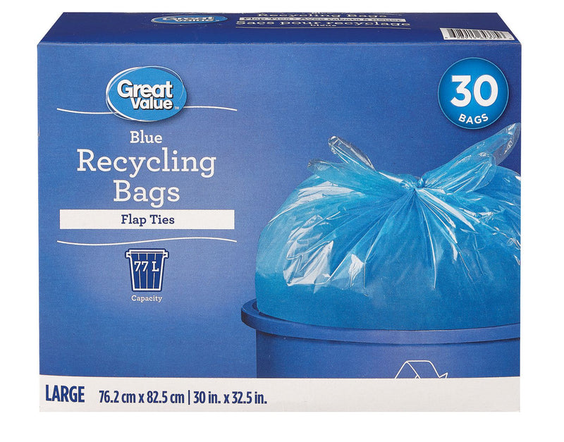 Great Value Blue Recycling Bags