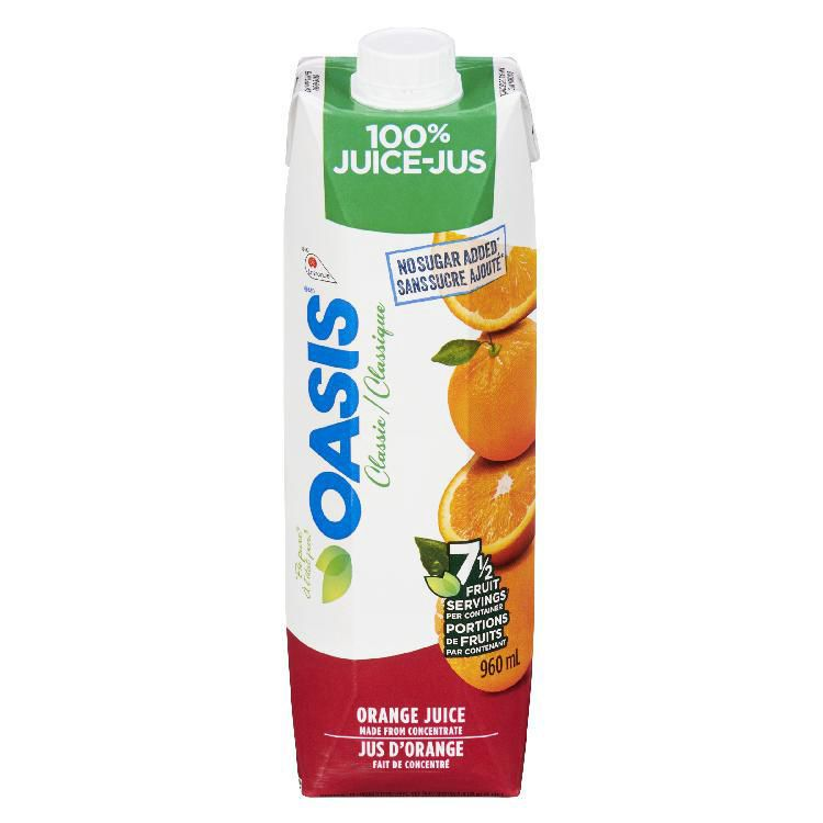 Oasis Classic Orange Juice 960mL