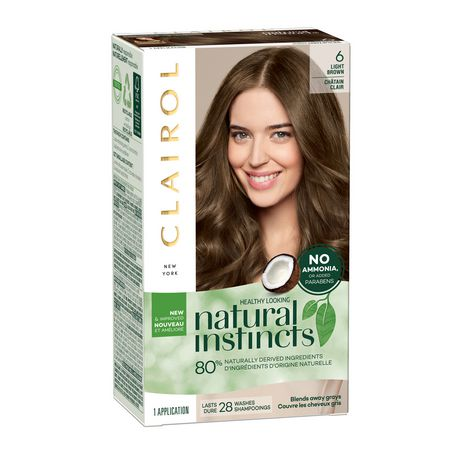 Natural Instincts Semi-Permanent Hair Color Light Brown - 6