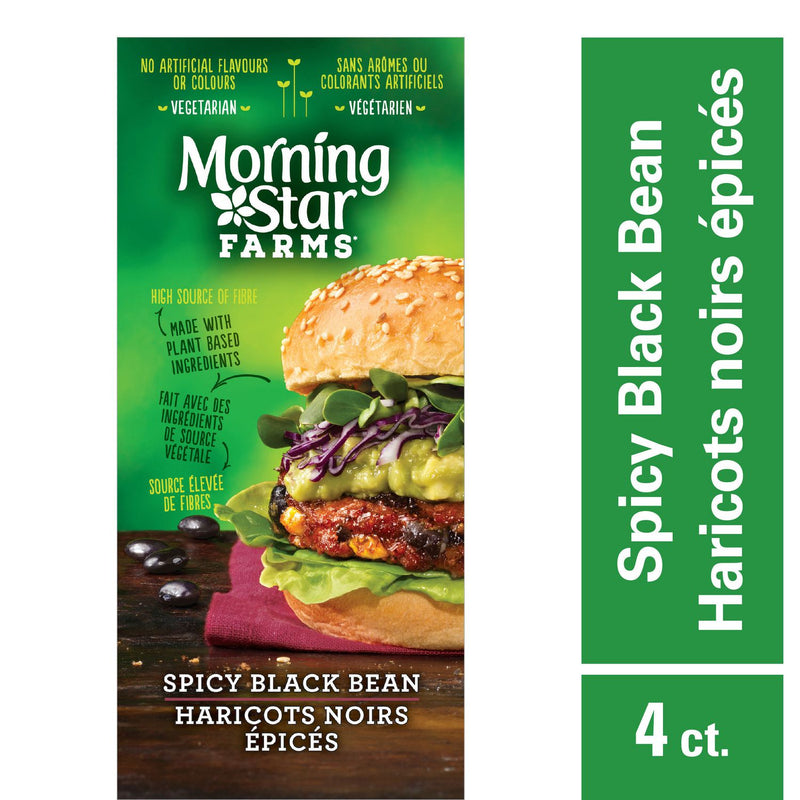 Morningstar Farms, Spicy Black Bean Veggie Burger, 268g