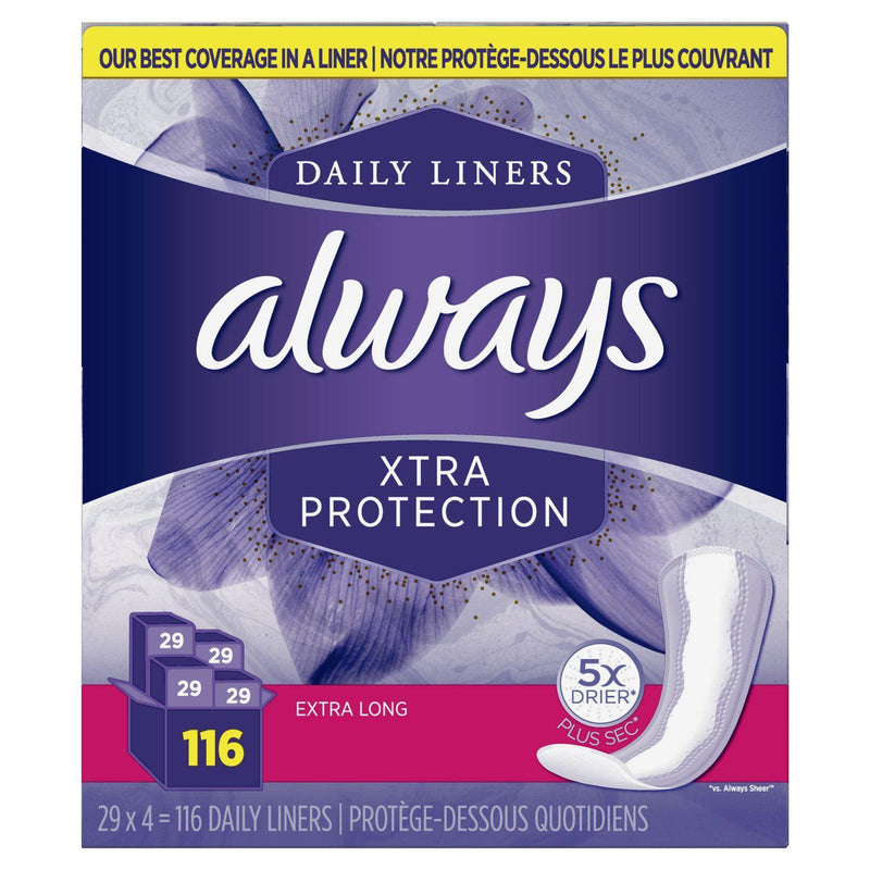 Always Xtra Protection Daily Liners, Extra Long