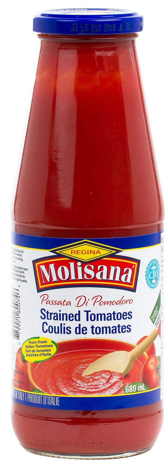 Regina Molisana Passata, Strained Tomatoes, Glass Bottle, 680 ml