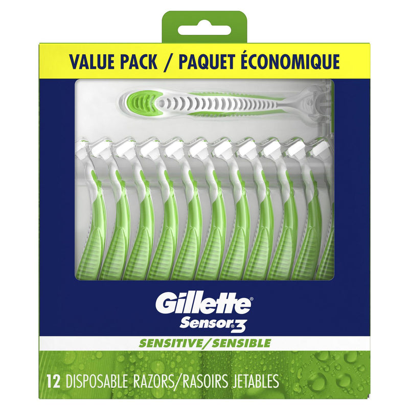 Gillette Sensor3 Sensitive Men's Disposable Razor