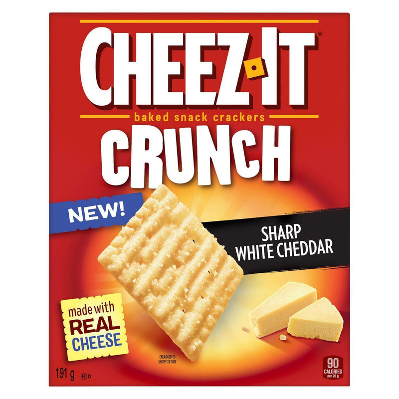 Cheez-It® Crunch, Sharp White Cheddar, Baked Snack Crackers, 191g