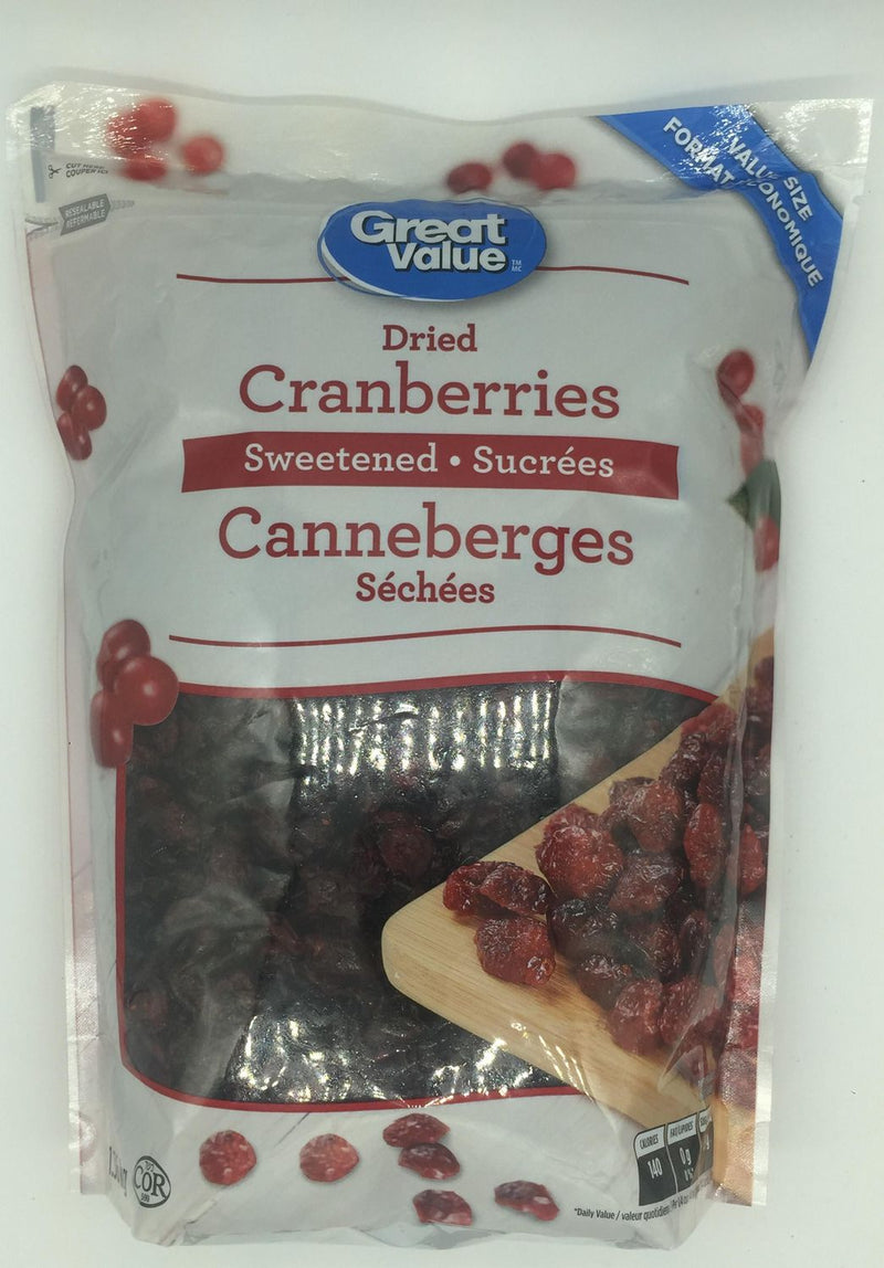 Great Value Dried Cranberries Sweetened