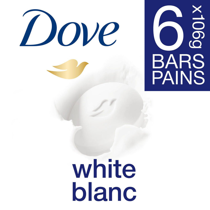 Dove Beauty Bar for healthy-looking skin White 106 g 6 count