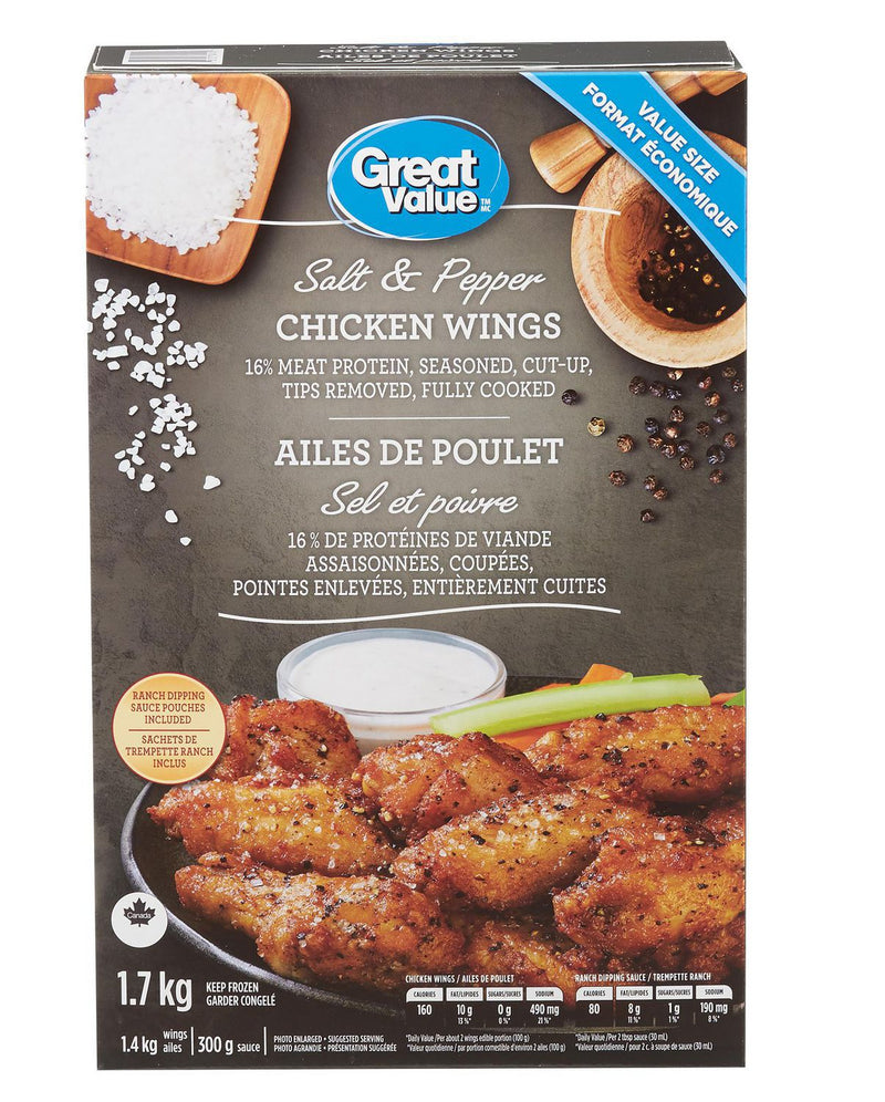 Great Value Salt and Pepper Chicken Wings