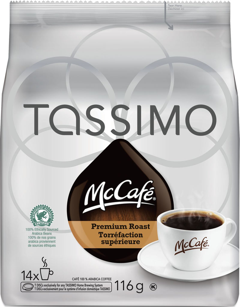 McCafé® Premium Roast Medium Dark Tassimo Single Serve T-Discs, 14 count