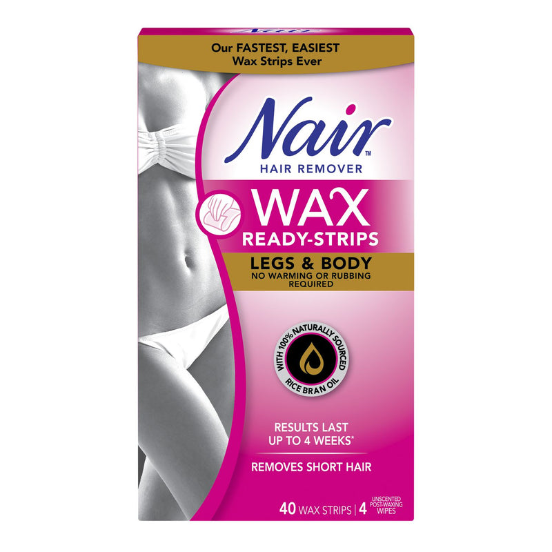 Nair Wax Ready Strips Legs And Body Hair Remover