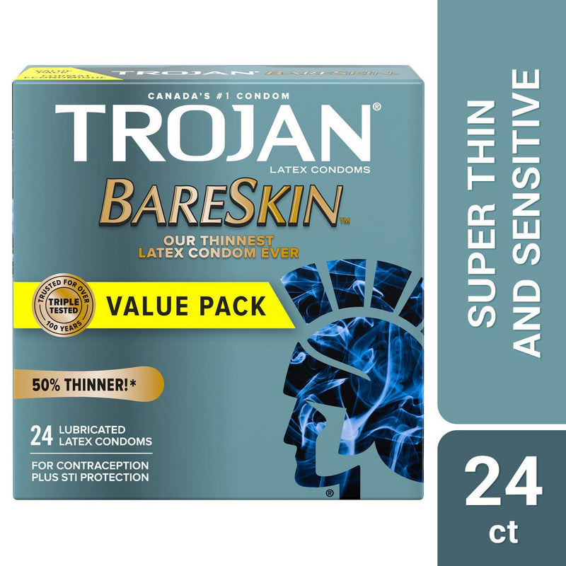 Trojan BareSkin Lubricated Condoms, Super Thin & Sensitive