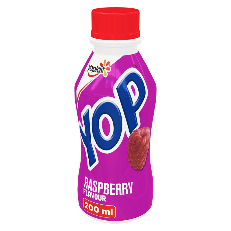 Yop by Yoplait Raspberry Flavour Drinkable Yogurt
