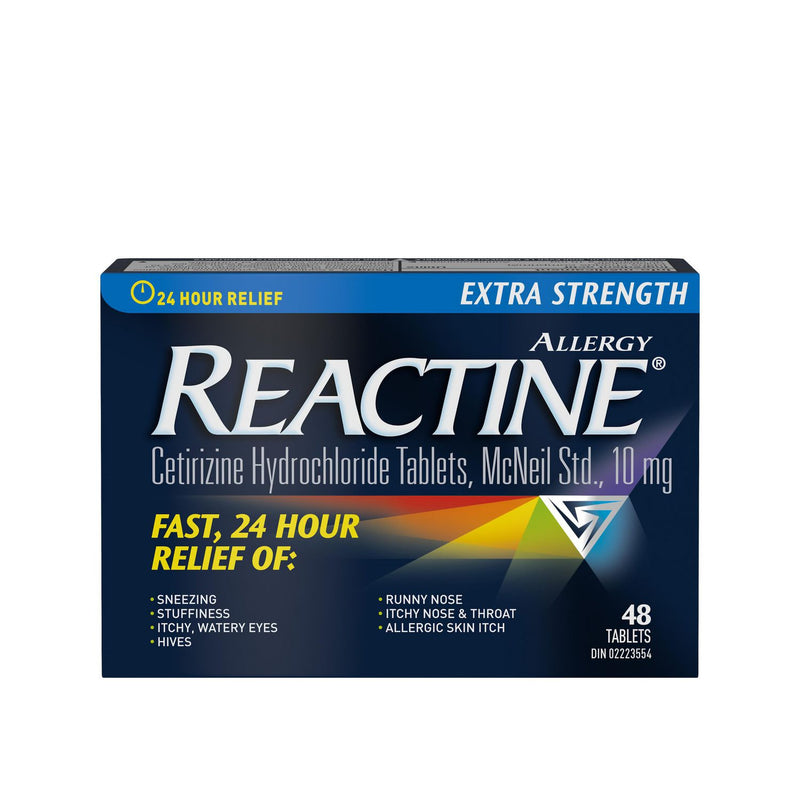 Reactine Extra Strength 24 Hour Allergy Medicine, Antihistamine 10mg