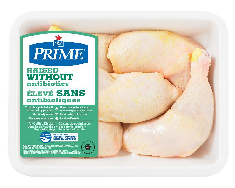 Maple Leaf Prime Raised Without Antibiotics Quarter Chicken