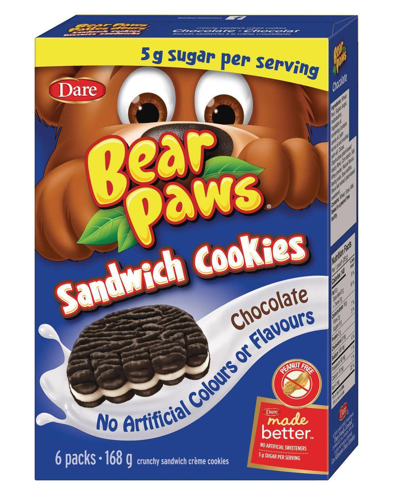 Bear Paws Sandwich Cookies Chocolate