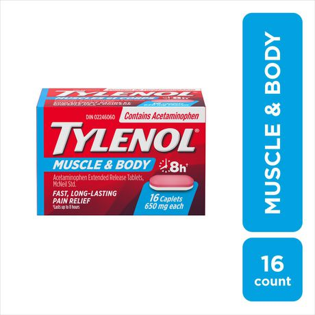 Tylenol Muscle Aches & Body Pain Relief Acetaminophen Caplets