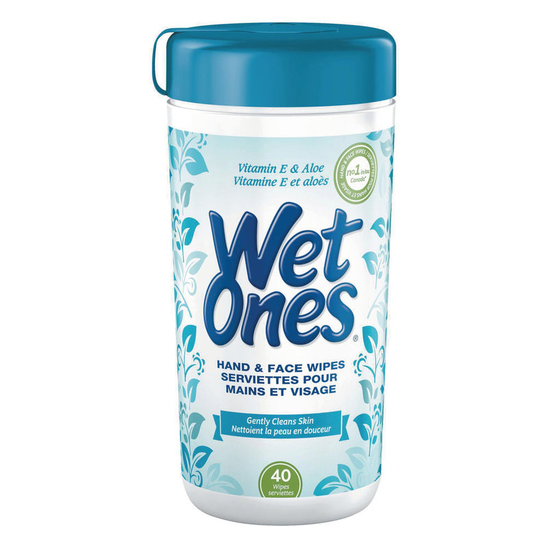 Wet Ones Hand and Face Wet Wipes Vitamin E and Aloe
