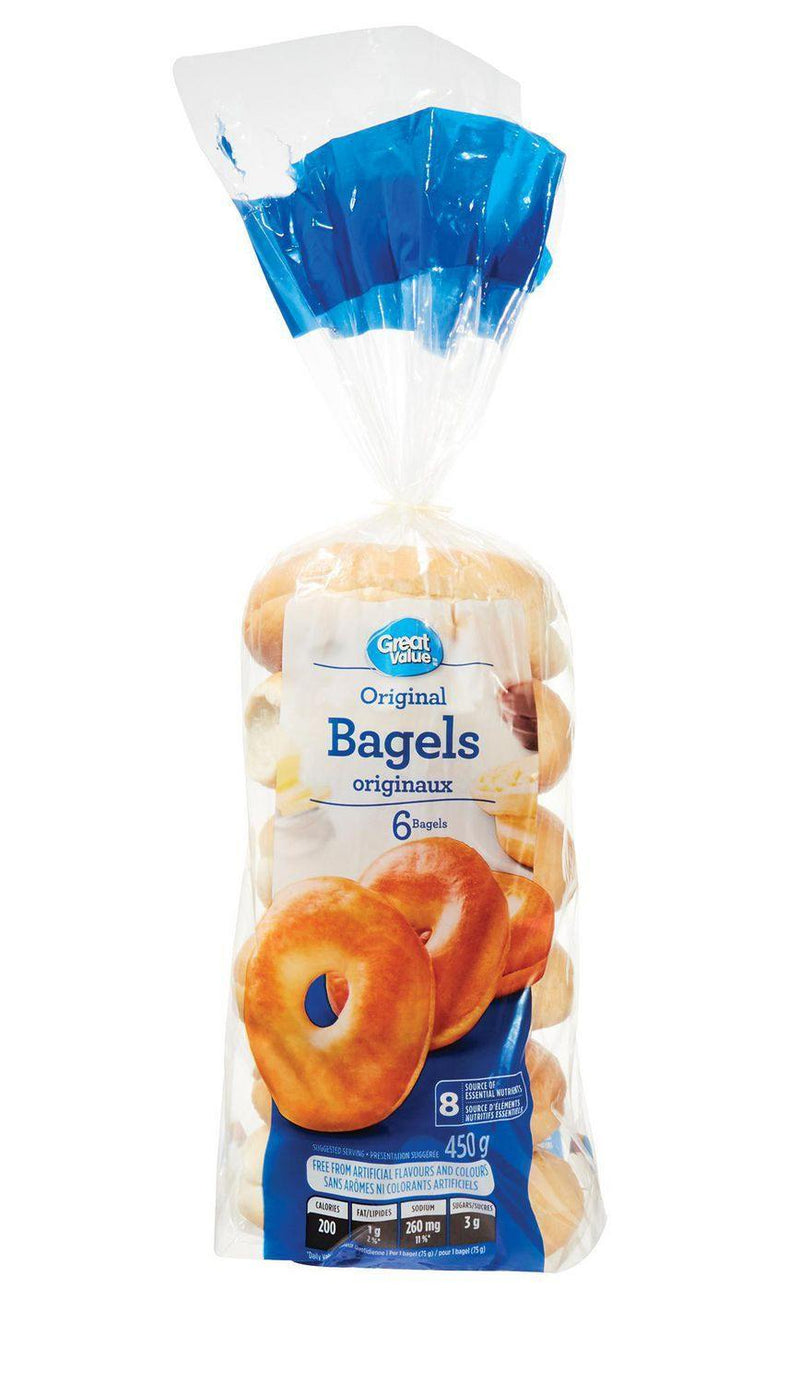Bagels originaux de Great Value